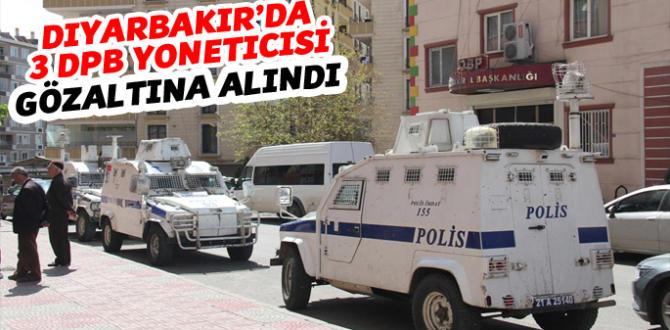 Diyarbakır'da DBP'li yöneticiler gözaltına alındı