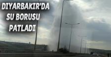 """Dicle nehri'ne yakın bölgede """"Su Boru Hattı"""" patladı"""