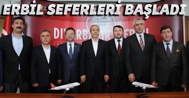 Diyarbakır – Erbil arası uçak seferleri başladı