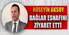 Vali Hüseyin Aksoy: Bağlar esnafını ziyaret etti