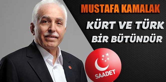 Kamalak Diyarbakır'da konuştu: Oyuna Gelmemeliyiz