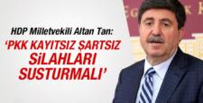 Altan Tan: PKK'nin silaha son vermesi lazım
