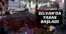"""Silvan'da """"Sokağa Çıkma Yasağı"""" tekrar başladı"""