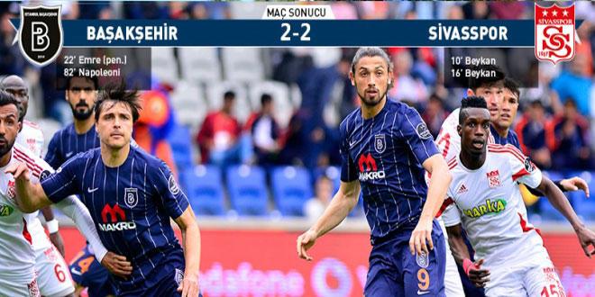Sivasspor, Başakşehir ile berabere kaldı, işi zora soktu