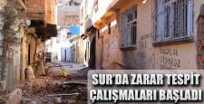 Sur'da evi zarar görenlerin zarar tespiti yapılıyor