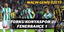 Fenerbahçe, zorlu Konyaspor deplasmanında yenildi