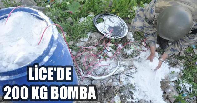 Lice'de cami karşısında patlayıcı düzeneği bulundu