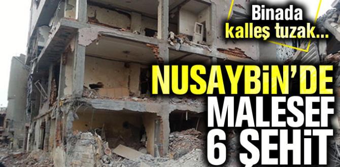 Mardin'in Nusaybin ilçesinde patlama, 6 Şehit
