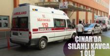 Diyarbakır'ın Çınar ilçesinde silahlı kavga, 1 Ölü