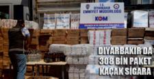 Diyarbakır'da 308 bin paket kaçak sigara yakalandı
