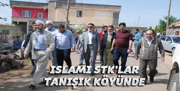 İslami STK'lardan bombanın patladığı köye taziye ziyaret
