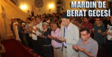 Mardin'de Berat Gecesi'nde camiler doldu taştı
