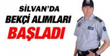 Diyarbakır'ın Silvan ilçesinde bekçi alımına başlandı
