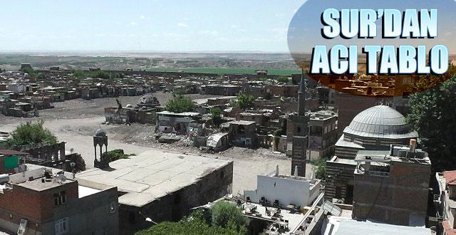 Sur'dan geriye acı manzara kaldı, halk üzgün