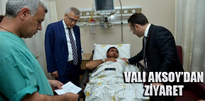 Hüseyin Aksoy, patlamada yaralananları ziyaret etti