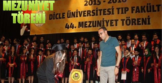 Dicle Üniversitesinde Hekim Adayları Diploma Aldı