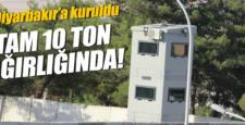Diyarbakır'a 10 ton ağırlığında zırhlı kule konuldu