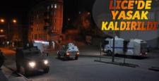 Lice'de 1 günlük sokağa çıkma yasağı tekrar kaldırıldı