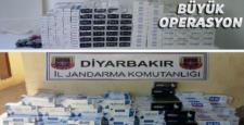 Diyarbakır'da 10.000 paket kaçak sigara ele geçirildi
