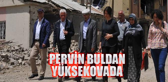 Pervin Buldan, Yüksekova'da incelemede bulundu