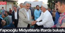 Zekeriya Yapıcıoğlu, Midyat halkıyla iftarda buluştu