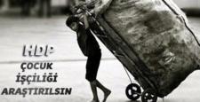 HDP, çocuk işçiliği için TBMM'e araştırma önergesi sundu