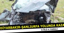 Diyarbakır'da feci kaza: 6 kişi öldü, 4 kişi yaralı