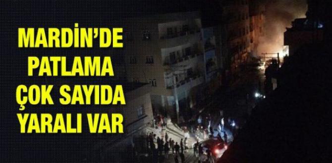 Mardin'in Nusaybin ilçesinde patlama: Yaralılar var