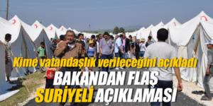 Efkan Ala, Suriyelilere vatandaşlık konusunu açıkladı