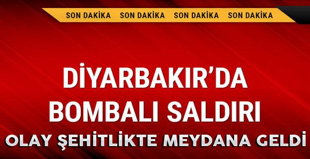 Diyarbakır'ın şehitlik semtinde bombalı saldırı düzenlendi