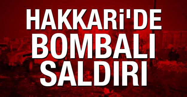 Hakkari'de bombalı saldırı, 2 Şehit, 11 Polis yaralandı