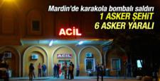 Mardin'de karakola saldırı, 1 asker şehit oldu