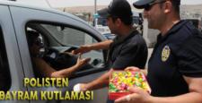 Şırnak'ta polis vatandaşların bayramını kutladı