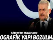 Binali Yıldırım'dan Musul ve Başika açıklaması