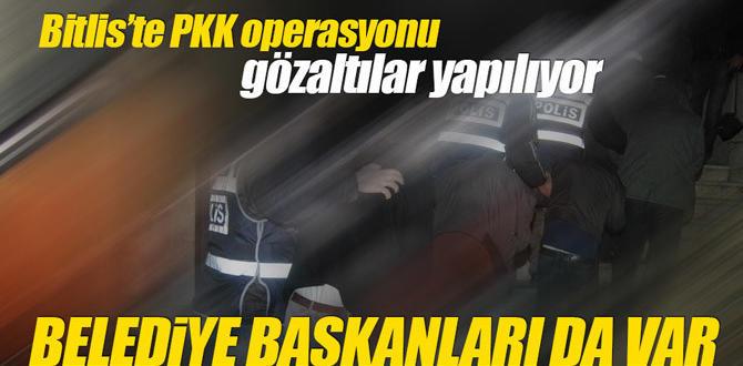 Bitlis'te PKK operasyonu, belediye başkanları gözaltında