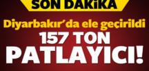 Diyarbakır'da 2.5 ton patlayıcı yakalandı