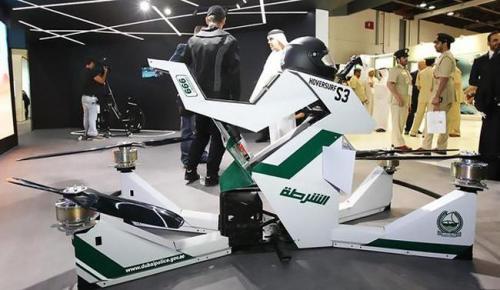"""Dubai, polisi gökyüzünü yeni """"hoverbike"""" ile gözlemledi"""
