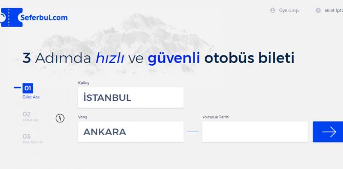 İstanbul Bursa Otobüs Bileti İçin Sunulmakta Olan Kolaylıklar