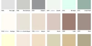 DYO Boya Renk Kartelası