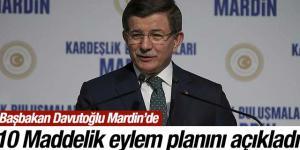 """Ahmet Davutoğlu Mardin'de """"Master Planı""""nı açıkladı"""