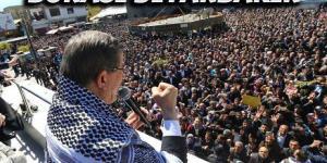 Ahmet davutoğlu Diyarbakır'da, işte o görüntüler